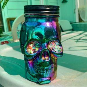 Mason Jar Skeleton (iridescent)